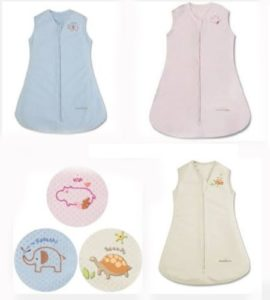 Breathable Baby Sleeping Bag Sleep Sack 0-6 Months 1 Tog Cream