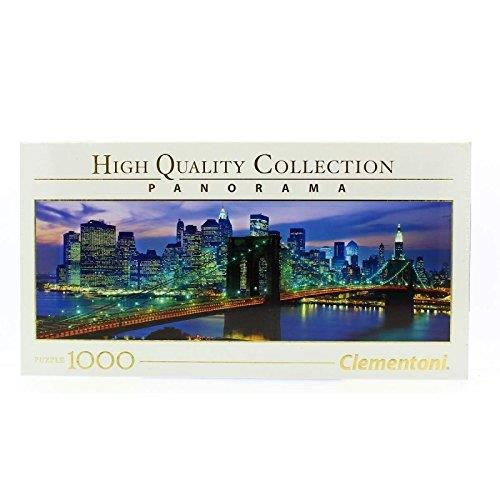 Clementoni 39434 Clementoni-39434-High Quality Collection Panorama-New York Brooklyn Bridge-1000 Pieces, Multi-Colour