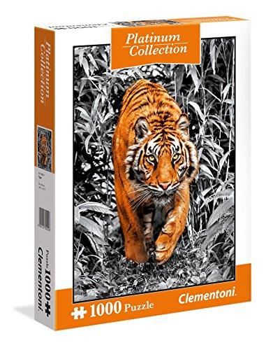 Clementoni 39429 Clementoni-39429-Platinum Collection-Tiger-1000 Pieces, Multi-Colour