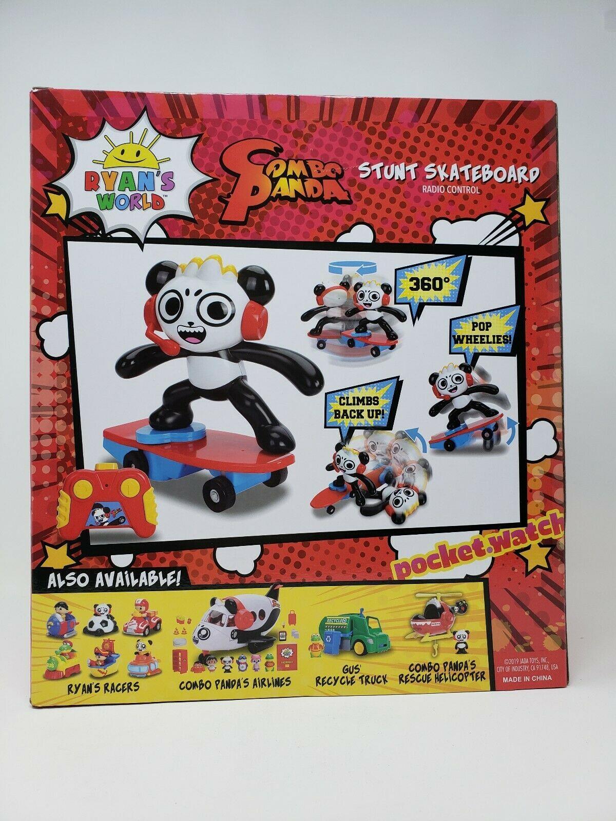 Ryan/'s World Combo Skate Board Radio Control Panda Stunt Toy NEW