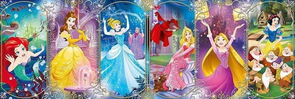 Clementoni 39444 Clementoni-39444-Disney Panorama Collection-Princess-1000 Pieces, Multi-Colour