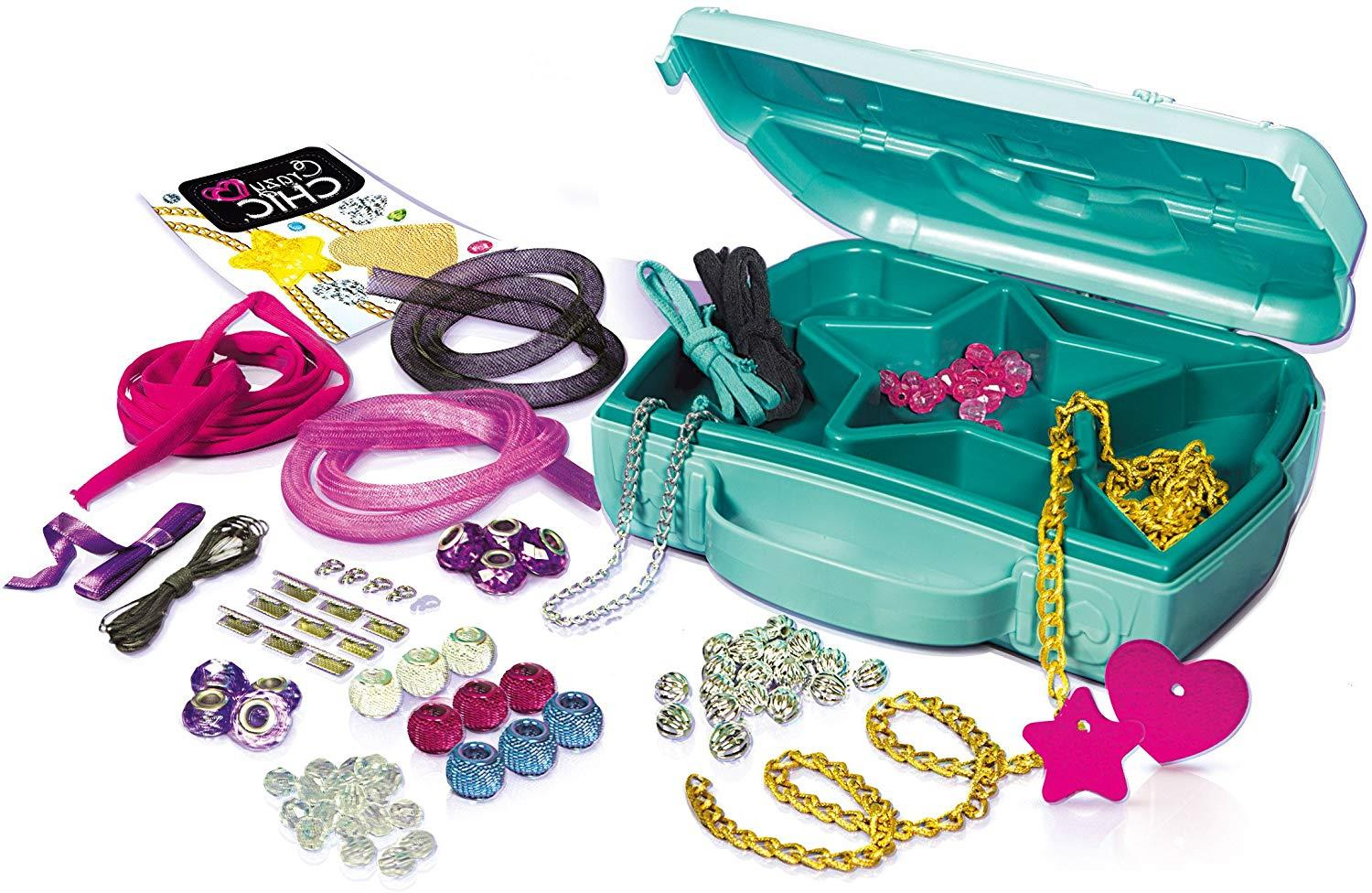 Clementoni CRAZY CHIC The JEWELLERY WORKSHOP Make Your Jewellery /& Bag Case