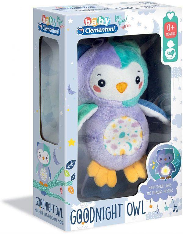 Clementoni 17268 Night Owl Light up Plush