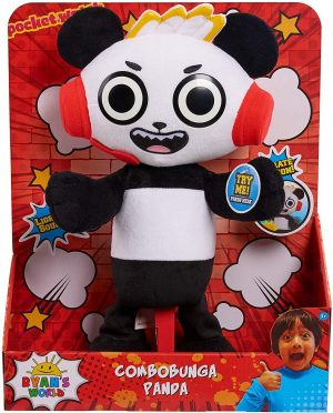 Ryans World JPL79111 Combobunga Panda Feature Plush