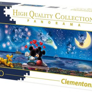 Disney Panorama Collection Clementoni-39449-Disney Mickey & Minnie-1000 Pieces, Multi-Colour